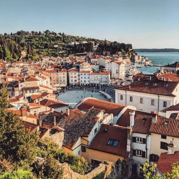 Such a beautiful view over Old Town Piran. This coastal town is admired not only because of its beauty, but also by its rich culture. Learn about it by visiting the exhibitions, hosted in their museums and galleries.⁣ ⁣ 6 museums and galleries you can visit in Piran⁣  Town Gallery Piran - presenting modern art;⁣  Herman Pečarič Gallery - showcasing a collection of paintings, drawings and graphics by the artist;⁣  Sergej Mašera Maritime Museum - illustrating the history of maritime activities in the region;⁣  Museum of Underwater Activities - showing the lives of the early divers and submariners;⁣  Magical World of Shells - displaying the shell of the world's biggest snail;⁣  Mediadom Pyrhani - revealing the history of Piran.⁣ ⁣ Find even more ideas for discovering Piran by clicking the link in bio!⁣ ⁣ Thank you @de_weg_ for this lovely photo of @portorozpiran. What is your way of feeling Slovenia? Show us by sharing your photos with #ifeelsLOVEnia and #myway.⁣ ⁣ .⁣ .⁣ .⁣ .⁣ .⁣ #travelblogger #travelphotography #AfterLight  #Wonderful_Places #TravellingThroughtheWorld #BestDiscovery #Discover_Vacations #DiscoverGlobe #TravelAwesome #AwesomePix #BeautifulDestinations #CNTraveler #PassionPassport #Awesome_Earthpix #EarthFocus #BestVacations #AwesomeEarth #slovenia #slowenien #piran #pirano #itsculturetime #neverstopexploring #europe_vacations #cityscape #ig_captures #igworldclub #travelgram