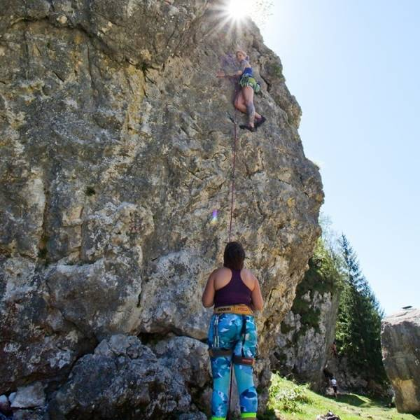 ♀️Where to go #climbing in Slovenia?  Take your climbing equipment and helmet, enter a climbing paradise, and the sky will be your limit. Read more in the BIO link.   ✨Finger crossed also for @janja_garnbret and @mia.krampl at the @olympics @sloveniaolympicteam.   #ifeelsLOVEnia #sloveniaoutdoor   Photo by @jostgantar | www.slovenia.info
