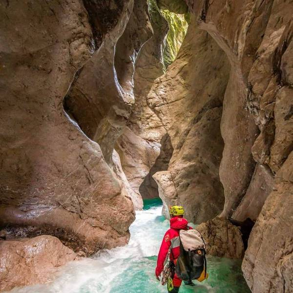 Canyoning offers unforgettable experience in nature. Koritnica, Kluže Gorge   #ifeelsLOVEnia #mojaslovenija  Photo by @andrejhlis_canyoning.