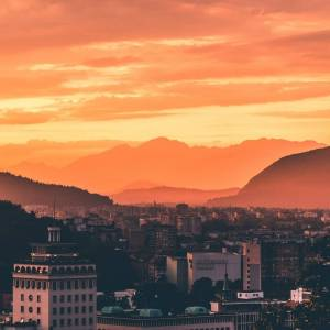 Hey Sunday! May it be even more peaceful with this golden sky above  Ljubljana  #ifeelsLOVEnia #visitljubljana   Photo by @points.on.the.map.