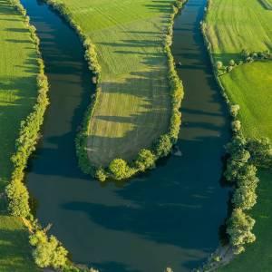 Meander of river Krka in Koprivnik, near Kostanjevica na Krki, Slovenia.  #ifeelsLOVEnia #mojaslovenija #dolenjska  Photo by @darko.jakovac.photo
