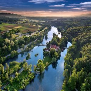 SLOVENIA IS A LAND OF CASTLES  For all of you who seek for historical views - did you know that in Slovenia we have around five hundred castles?  In the heart of Dolenjska, in between a green scenery of Krka river, stands a charming, gothic castle Otočec.  Is it already in your travel plan?  Thanks @sloveniameetings and @castleotocec for sharing your photo with #ifeelsLOVEnia. #itsculturetime