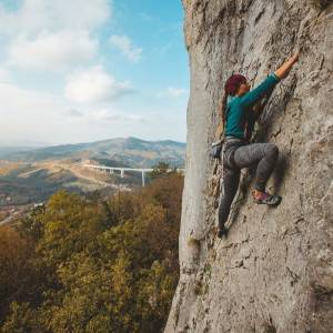My way of taking it to the top!  Do you like climbing challenges in a natural rock face? Slovenia has no fewer than 113 natural climbing sites. The highest crags with the greatest number of routes are located there: Osp, Mišja peč and Črni Kal.   Thank you @sandra_suc for sharing your photo with #ifeelsLOVEnia and #myway.  #slovenia #viadukt #crnikal #slowenien  #climbinginspiration #climbing #climbinglovers #climbinggirls #climbing_is_my_life #climbing_worldwide #climbingrocks #climbingnation #climbinglife #outdoorclimbing #crackclimbing #tradclimbing #sports #fall  #rockclimbing #climbing_pictures_of_instagram #adventure #instagood #actionsports #viewpoint #wannagoback #wanderlust