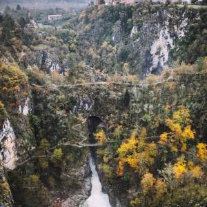 What an impressive view of the Škocjan Caves Park and the village of Škocjan.   Did you know that the Škocjan Caves are considered to be one of the most beautiful underground gems in the world? They are also part of the UNESCO World Heritage.   Find out more about the park and other places worth visiting in the Karst area at the link in bio! Thank you @canipel for sharing your photo with #ifeelsLOVEnia and #myway.       #slovenia #slowenien #visitslovenia #skocjancaves #skocjan #beautifuldestinations #wanderout #moodygrams @moodygrams #liveauthentic #asadventure @artofvisuals #visualsoflife @stayandwander @MillionDollarVisuals #découvrirensemble @folkcreative #exploreourearth @earthgrammers @naturegood #naturegood #leagueoflenses @folkscenery #lifeofadventure #gooutside #wondermore @awakethesoul #fartoodope  #discoverearth @discoverearth #sdmfeatures #wildernessearth  #folk_life_mood #wildernesstones #themoderndayexplorer #modernoutdoors #earthspirit #hellofrom