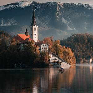 Lake Bled and its surroundings invite you to experience unforgettable adventures. Pamper yourself in the water of its thermal springs. Enjoy local flavours and visit the traditional events in Bled. #ifeelsLOVEnia #mojaslovenija #sloveniaoutdoor #bledslovenia    Photo by @harrypope.