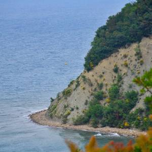 Climb the Strunjan Cliff, which rises 80 metres up into the air and enjoy a fantastic view of the Slovenian coastline.  The cliff is the highlight of the Strunjan Landscape Park, which is adjacent to Izola.  With the rich vegetation along its edge and the belt of sea that stretches 200 metres, the cliff was declared a nature reserve.  ️This is the longest stretch of untouched shore along the entire 130-kilometre coastline that runs from Grado in Italy to Savudrija in Croatia.   #ifeelsLOVEnia #mojaslovenija  Photo by @3tx.photography.