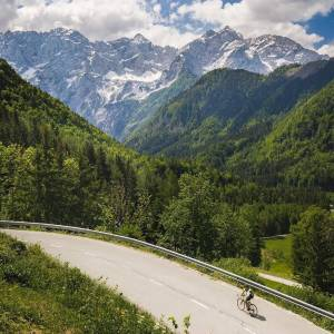 Biking with amazing views!  If you're a fan of cycling, don't miss @tourofsloveniaofficial - biggest Slovenian road race.  Thanks @brianwlackey for sharing your photo with #ifeelsLOVEnia.