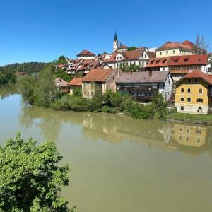 Novo mesto @visitnovomesto embraced by the river Krka Absolutely magical place indeed.   #ifeelsLOVEnia #mojaslovenija #visitdolenjska #sloveniaculture   Photo by @nina.colaricc.