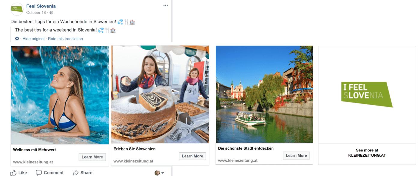 Facebook Carousel I feel Slovenia