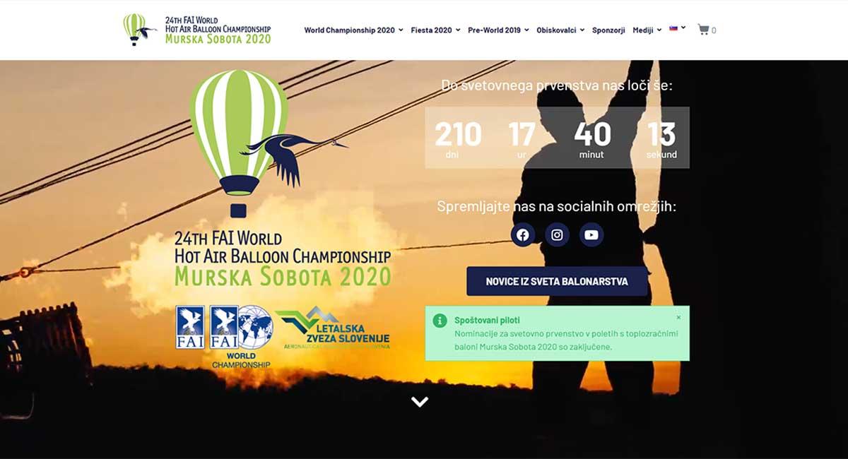 24. FAI svetovno prvenstvo v poletih s toplozračnimi baloni Murska Sobota 2020