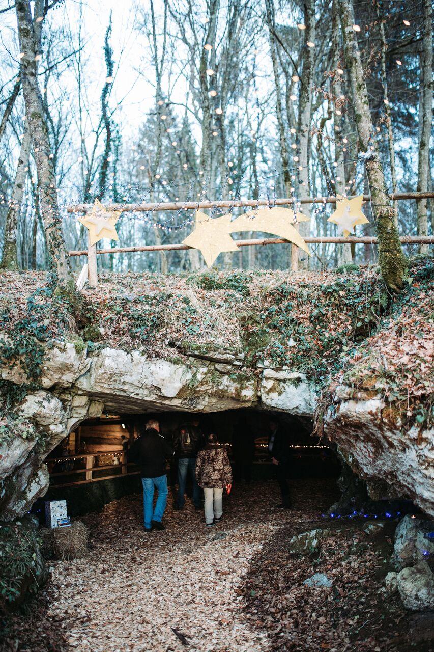 Nativity scene in the Judovska hiša cave from the paleolithic