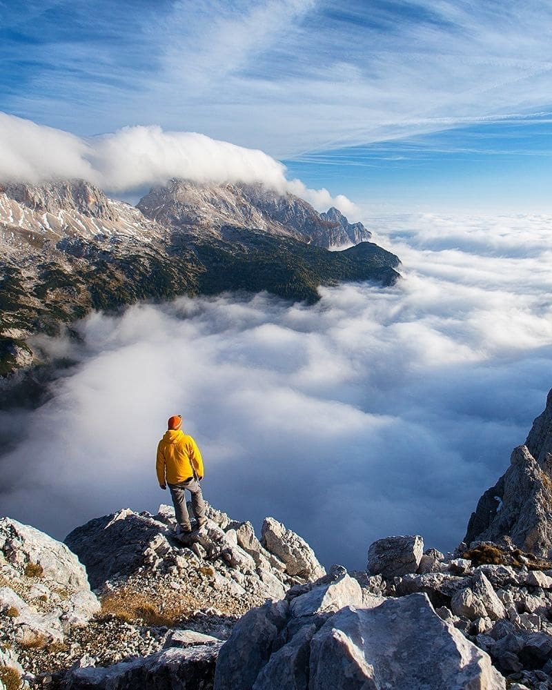 Above the clouds. ️ Rest your mind and enjoy the views in Slovenian mountains. Sometimes silence seems like an advantage. ️ Thanks @jostgantar for sharing your photo with #ifeelssLOVEnia.