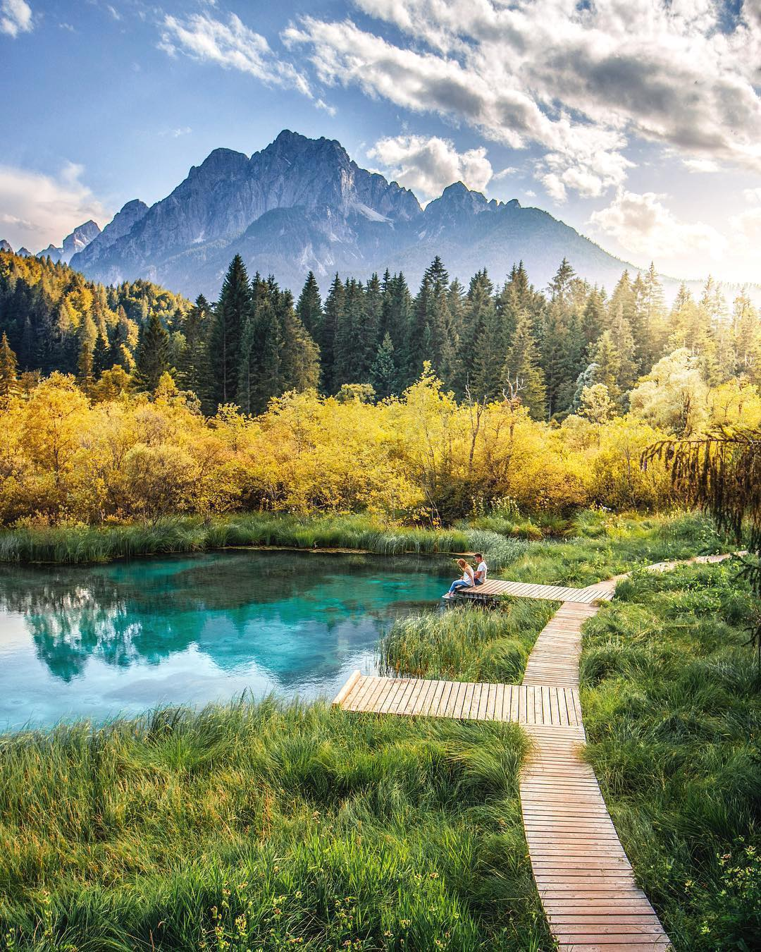 It's just wonderful to take a break. ️ Especially at such beautiful places as this one is. Zelenci Springs is a nature reserve near the town of Kranjska Gora, in the far northwestern corner of our beutiful land. It is the source of the Sava Dolinka River.  This spot is known by its deep, brilliant green colour.  . Thanks @hebenj for sharing your photo with #ifeelsLOVEnia.