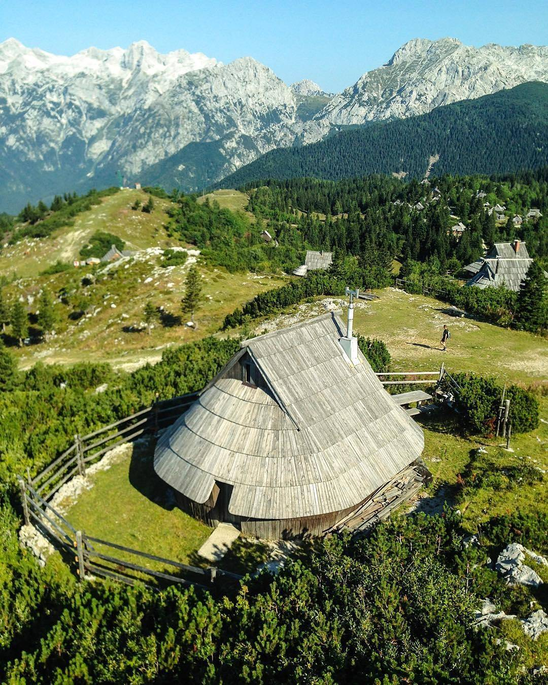 A herdsman's hut in Velika Planina - one of the biggest herdsman's settlement in Europe.  Thanks @travelbug_in_flipflops for sharing your photo with #ifeelsLOVEnia.