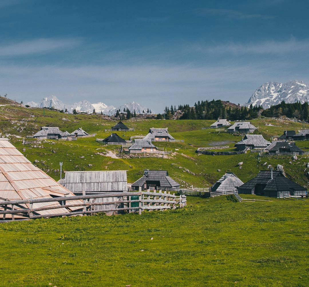 Velika planina  It's a magical plateau with one of the largest herdsmen's settlements in Europe only a few kilometers from Ljubljana. Go for a walk through the meadows or take a hike (or mountain bike) across the plateau. Thanks @edinkojic for sharing your photo with #ifeelsLOVEnia.