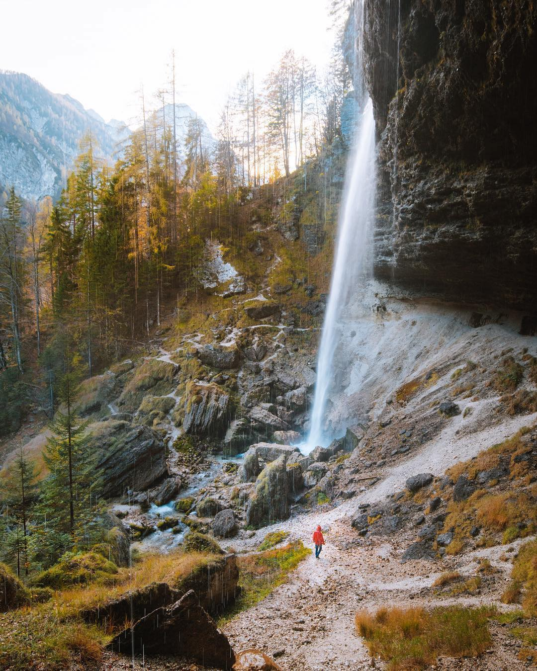 Nature - the most impressive creator. . These refreshing moments when those tiny water drops in the air embrace you.  Peričnik waterfall in Triglav National Park is a perfect spot to clear your mind and just watch this majestic amount of tiny drops.️ . . Thanks @jakefrad for sharing your photo with #ifeelsLOVEnia.