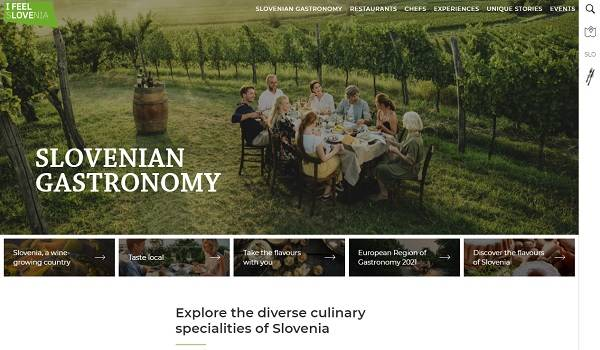 Taste Slovenia national gastronomy website receives gold at the Golden City Gate Awards