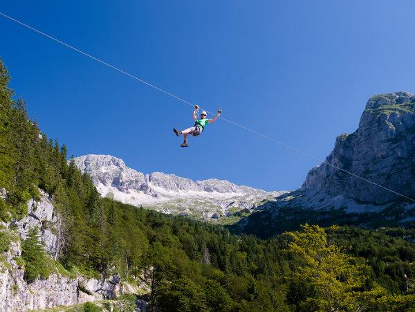 The Soča Valley has the biggest zipline park in Europe