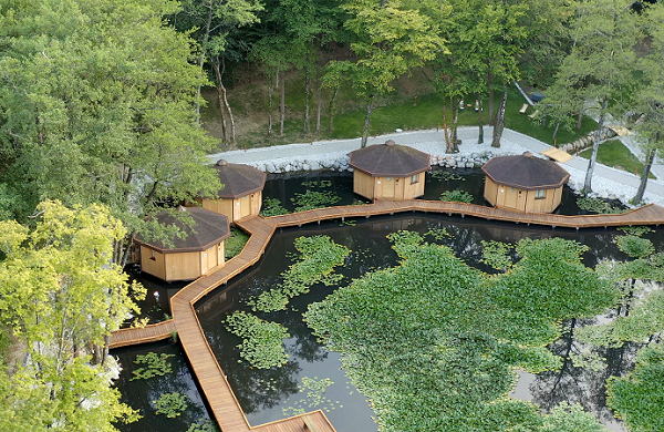 Lake Village – the first floating glamping village in Slovenia