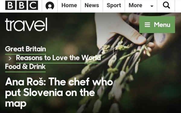 BBC Travel: Slovenia is fast becoming one of Europe's prime gastronomic destinations