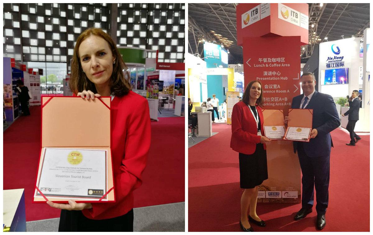 Sloveniji v okviru kitajske borze ITB China dve nagradi
