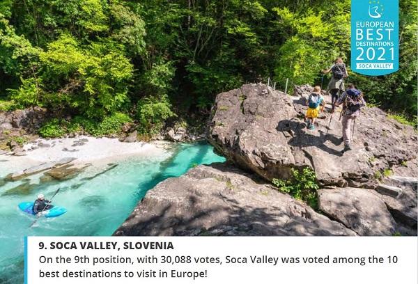 Dolina Soče izbrana med 10 najboljših destinacij v Evropi