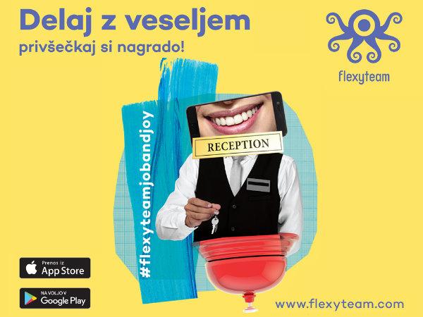 Flexyteam - mobilna aplikacija za iskanje dela v turistično-gostinski panogi