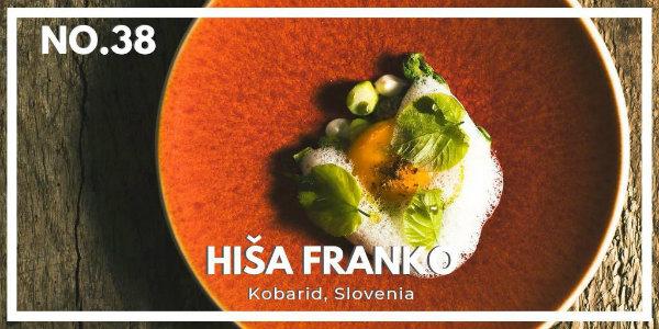 Hiša Franko na 38. mestu najboljših restavracij na svetu
