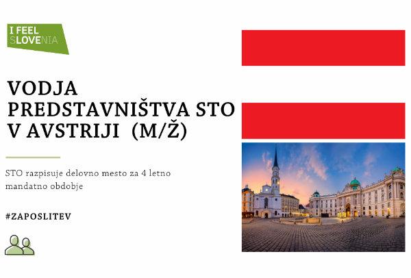 Razpis za delovno mesto vodje predstavništva STO v Avstriji