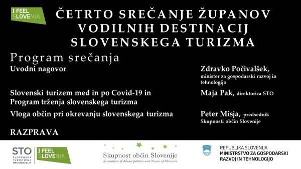 Z župani slovenskih občin o vlogi destinacij pri prilagoditvi situaciji in okrevanju slovenskega turizma po krizi