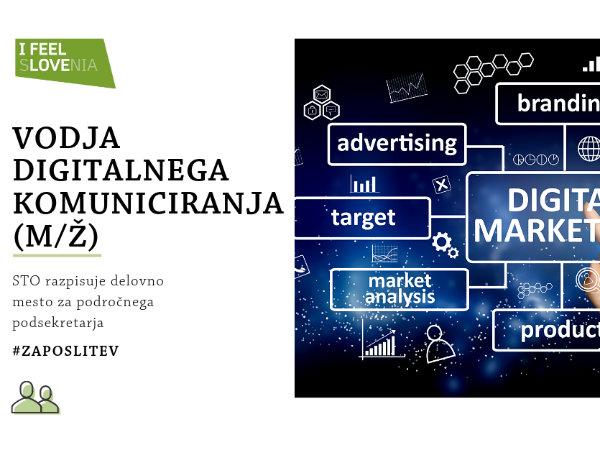 Razpis za prosto delovno mesto vodje področja za digitalno komuniciranje
