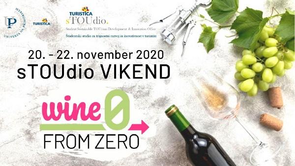 Spletno povezovanje slovenskih vinarjev in študentov - sTOUdio vikend WineFromZero 2020